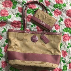 Coach bag and wallet.